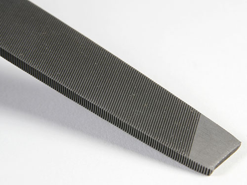 Single-cut small files for metal